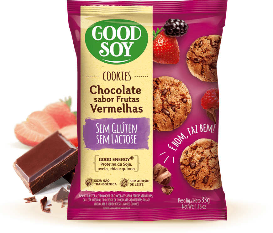 Good Soy Chocolate com Frutas Vermelhas